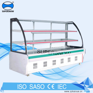 Portable Cold Plate Vegetable Harga Chiller Showcase Freezer