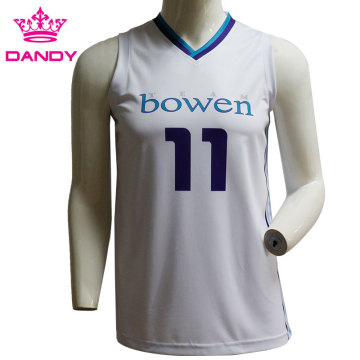 Cheap mesh sublimated basketball top
