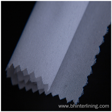 Polyester adhesive double dot woven coat fusing interlining
