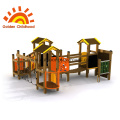 Mat for outdoor playground for dogs