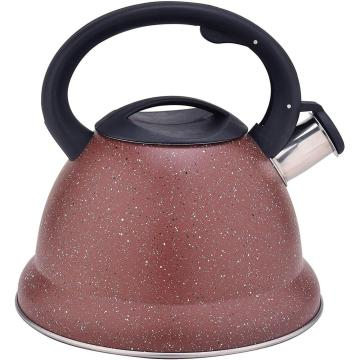 Red Durable Color Stainless Steel Whistling Stovetop Teapot