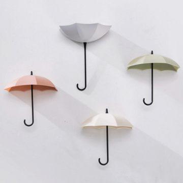 3Pcs/set Creative Umbrella Shape Hook Colorful Key Hanger Holder home Bedroom Wall decoration Accessories Load weight 0.2kg U3