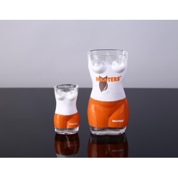 Jotai shaped shot glass with high quality