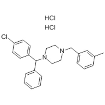 Piperazine,1-[(4-chlorophenyl)phenylmethyl]-4-[(3-methylphenyl)methyl]-, hydrochloride(1:2) CAS 1104-22-9