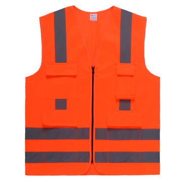 Safety vest with X on back