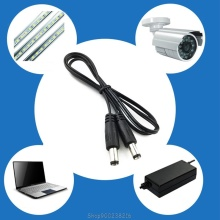DC Power Plug 5.5 x 2.1mm Male To 5.5 x 2.1mm Male CCTV Adapter Connector Cable S16 20 Dropship
