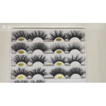 cheap 5 pairs eyelashes natural private label mink eyelashes custom package in good quality