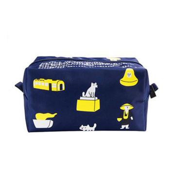 Custom Logo Colorful Cute Pattern Printed Travel Zipper Cosmetic Bag