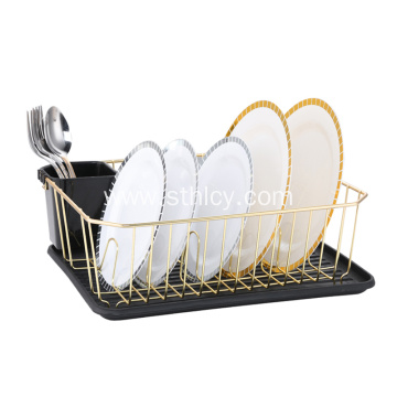 Kitchen With Plastic Salver Stainless Steel Storage Rack