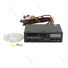 """2021 New USB 3.0 All-in-1 5.25"""" Muiti-function Media Dashboard Front Panel Card Reader"""