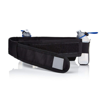 Trendy Fashion Running Fanny Pack Men Polyester  Belt Waist Bag With Two Water Bottle Holders