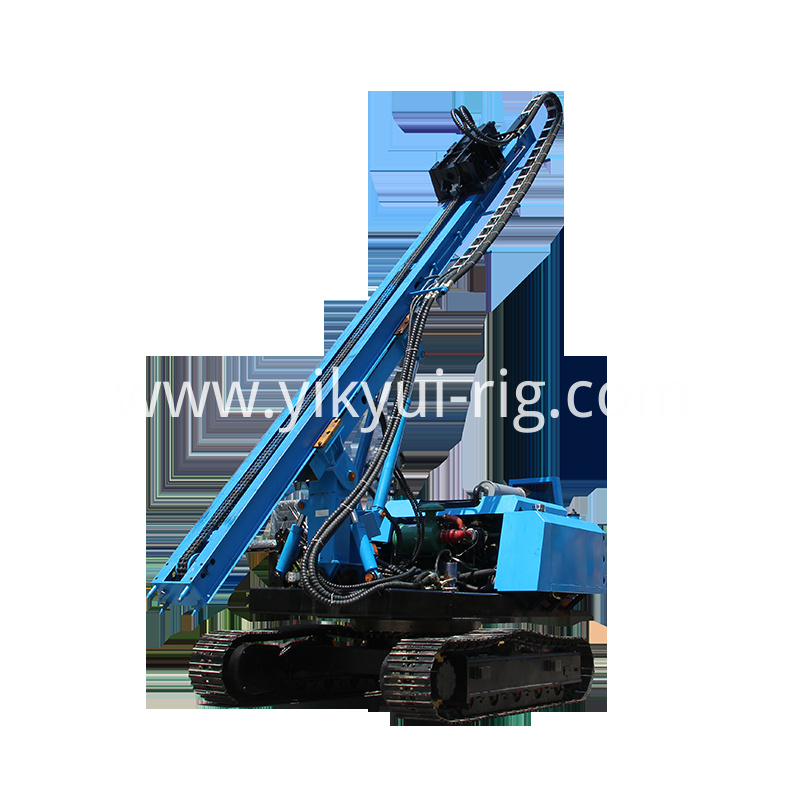 multifunction crawler piler solar power screw piler