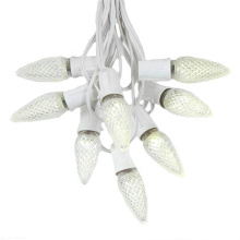 C9 Faceted Christmas String Light Warm White