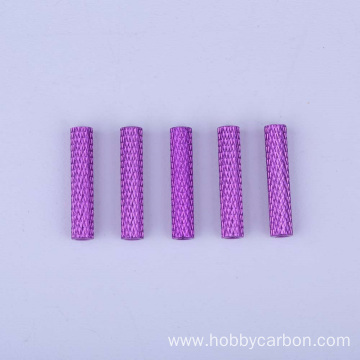 Factory processed hex aluminum threaded spacer