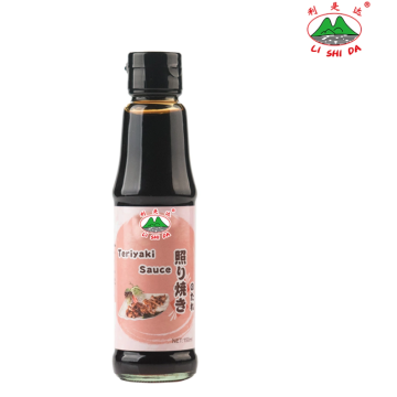 Teriyaki sauce in a 150ml glass bottle