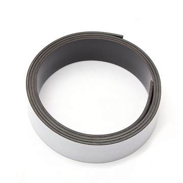 Rolls of flexible rubber magnet sheet