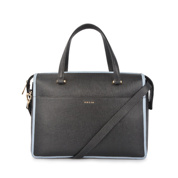 Contrast Color Women OL Genuine Briefcase Business Bag