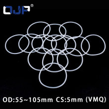 White Silicon Ring Silicone/VMQ O ring 5mm Thickness OD55/60/65/70/75/80/85/90/95/100/105mm Rubber O-ring Seal Gasket Washer