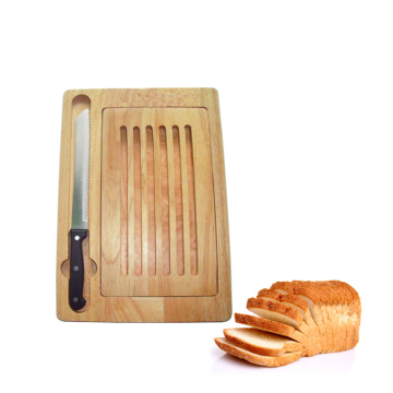 Rubber Wooden Cutting Board Forge Knife