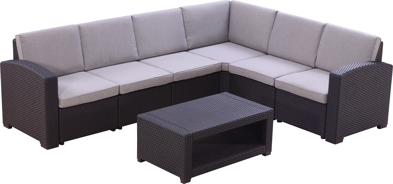 Corner Rattan Set Outdoor Wicker Sofa