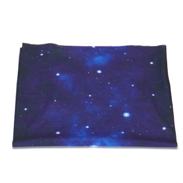 Solid star seamless polyester hair bandana scarf