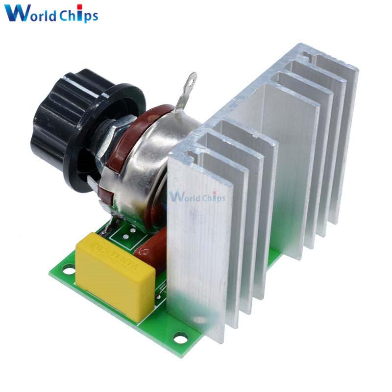 AC 220V 4000W Motor Speed Controller SCR Thyristor Brushless Switch Controller Module Power Voltage Regulator