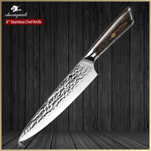 8 Inch Utility Cleaver Kitchen Knife Forged Carbon Steel 5Cr15 Cooking Chef Knives Professional Slicer Chef Kitchen Knife