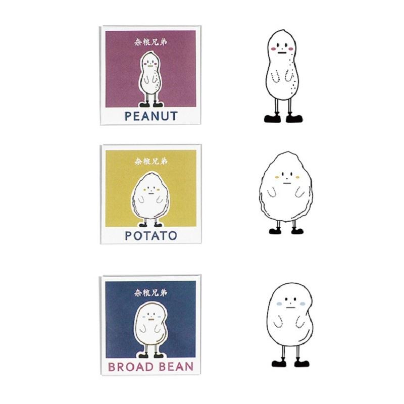 5pcs Original Cartoon Bookmark Plastic Bookmark Peanut / Potato / Broad Bean Student Stationery Creative Gifts