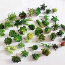 artificial succulents plants cactus decor fake plants mini bonsai greenery for home/garden/desk/room deco art craft supplies 1pc