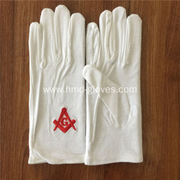 Masonic White Cotton Gloves