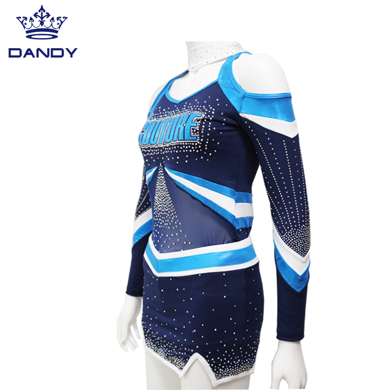 royal blue cheer uniform