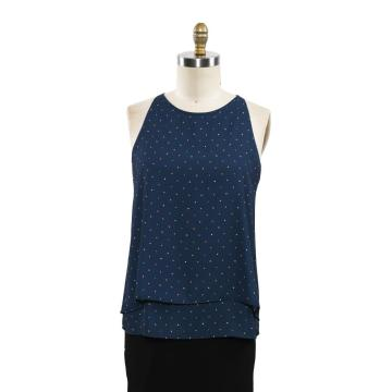 Summer Casual Printed Colorfull Dots Vest