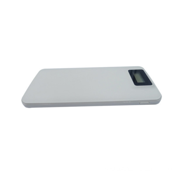 Square Dual USB Power Bank External Led