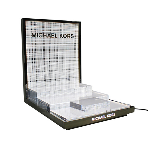 APEX Custom LED Transparent Acrylic Cosmetic Display Rack