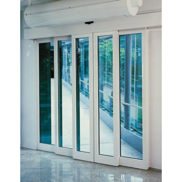 Interior glass telescopic automatic sliding doors