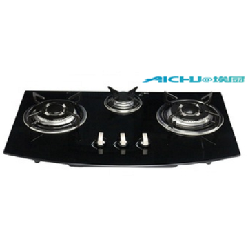 3 Burners Tempered Glass Kitchen Gas Stove