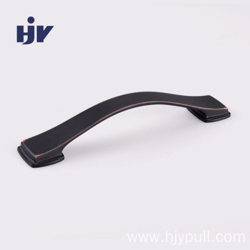 Oil rubber bronze cabinet handles 128mm Bow Drawer konb Pulls