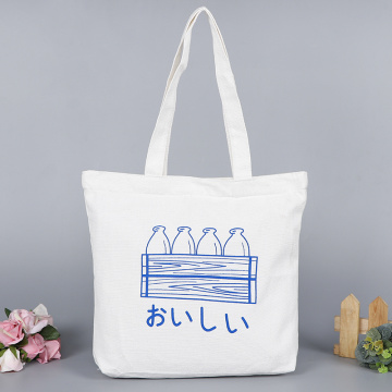 Milk Bottle Cartoon pattern Canvas Bag