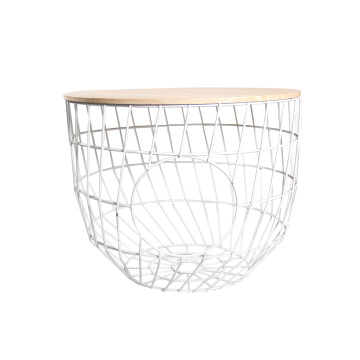 EASTOMMY Hot Selling Metal Basket End Table