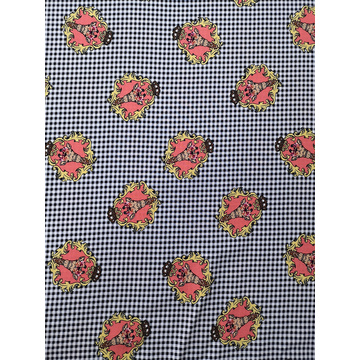 Check Interest Rayon Voile 60S Printing Woven Fabric