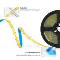 FCOB CCT LED Light Strip 640 LEDs High Density Flexible FOB COB 10mm Led Lights RA90 Warm White with White Linear Dimmable DC24V