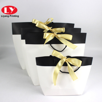 Luxury large/medium/small paper shopping bag with logo