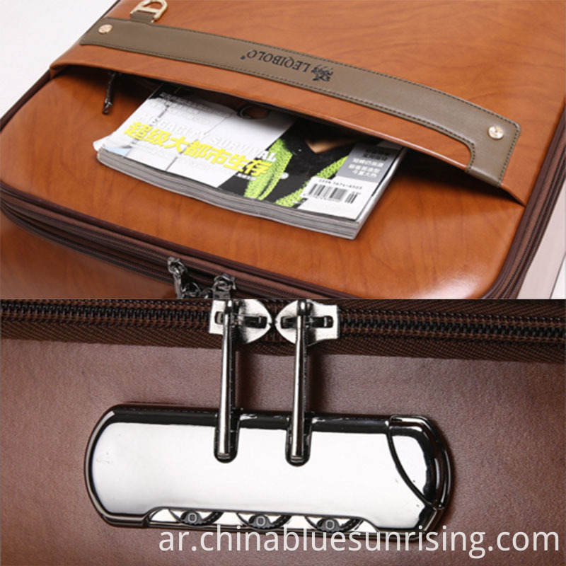 Safe lock pu luggage