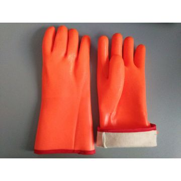 Winter lined with PVC coated gloves 14""