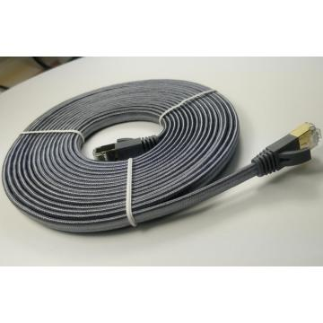 Flat Cat7 Internet Network Computer Braided Cable