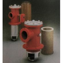 Side-mounted self-sealing oil suction filter for fuel tank