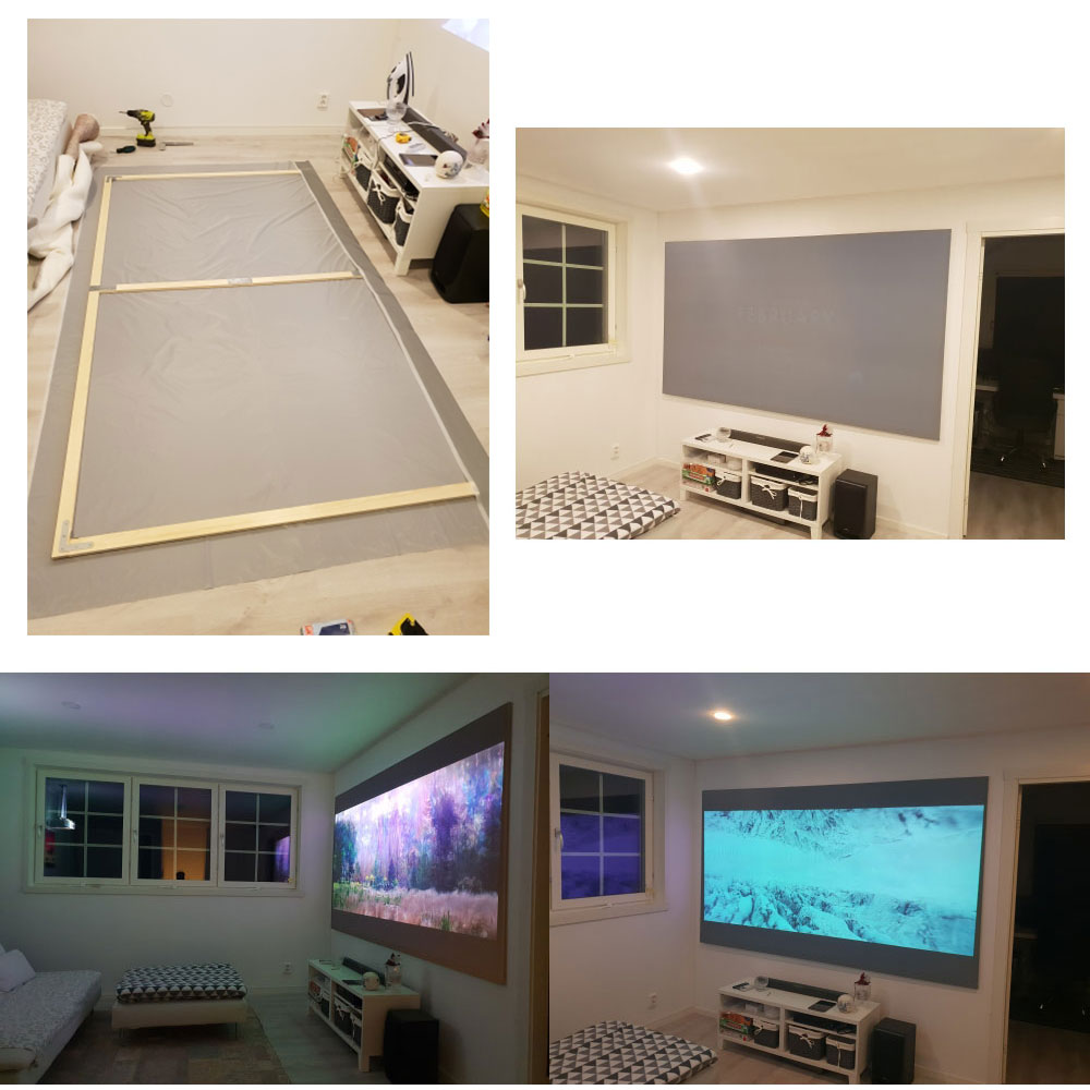 Salange Projector Screen 4:3, 60 72 84 100 inches home outdoor office portable Video Beamer 3D 4K 1080P projection screen