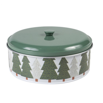Cake Storage Box Metal Storage Tin