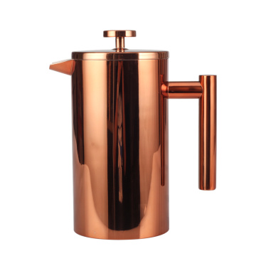 Copper Pretty Professional Double Wall French Press