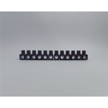 Black terminal strip of polypropylene